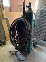 Oxyacetylene cutting torch unit with cart and hose - 5
