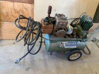 Craftsman air compressor with a 3hp Briggs & Stratton gas engine. The head is off of the air compressor so working condition unknown