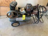 Craftsman air compressor with a 3hp Briggs & Stratton gas engine. The head is off of the air compressor so working condition unknown - 2