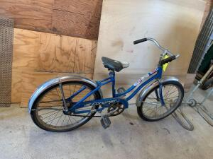 "Vista Coronet girls 20"" bicycle with a 1980 Iowa City license tag"