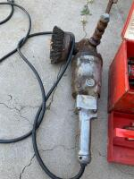 "Milwaukee rotary hammer with bits and a 6"" offset grinder with wire wheel - 2"