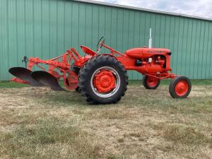 Allis Chalmers CA tractor SN CE172752PA w/ AC two bottom plow