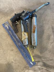 Two air grease guns and flex hose
