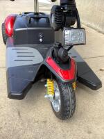 Buzz Around XL series scooter. Has battery, charger, flags Like new-appears barely used DOES RUN-We tested!!! Don't like red?? It comes with optional blue skins!!! Wow!!! - 6