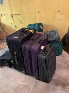 Sleeping bags and suitcases  **Bags need to be cleaned**