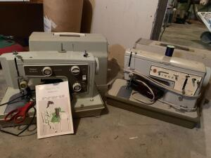 Sears Kenmore sewing machine and Singer Stylist Zig Zag Model 457 sewing machine