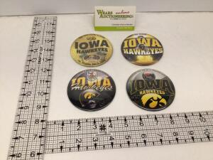 Four Iowa Hawkeyes Bowl badges – January 2006 Outback Bowl, December 2006 Alamo Bowl, January 2010 Orange Bowl and December 2010 Insight Bowl