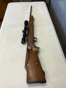 O. S. Mossberg & Sons Inc, model 377, 22 long rifle only, serial #MO4062, with Golden Antler Tasco scope