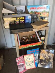 Miscellaneous rocks, Farm Animals, miscellaneous books