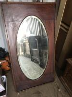 Beveled glass mirror in frame 25 x 46