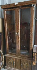Double door glass gun cabinet 32 x14 x 72