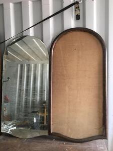 Large Beveled glass mirror with frame 22 x 44-in pieces