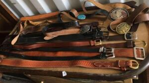 Assorted belts with buckles