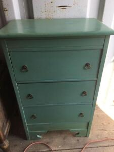 Three drawer painted cabinet 26 x 16 41