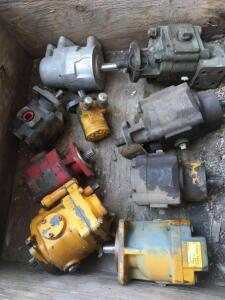 Assorted hydraulic pumps