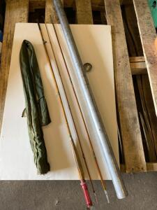 Bamboo fishing rod & tube