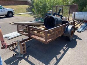 "2010 Carry-on Utilty Trailer, single axle, bed inside measure 60"" wide x 84"", metal tread plate deck, 2"" ball, drop gate for easy loading-contents NOT"