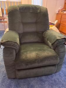 La-Z-boy forest green recliner, nice condition