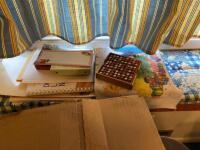 Sudoku books, puzzle books, cribbage board (no pins), Purdue Pegboard, paper supplies - 3