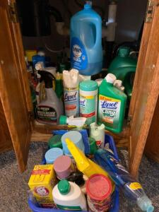 Cleaning supplies galore