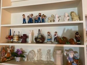 Musical figurines, candle holders, seasonal decorations