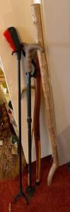 Wood walking sticks, grabber, canes