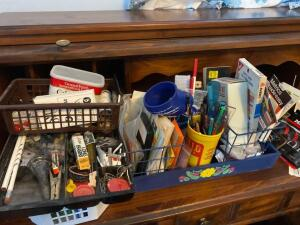 Office supplies, letter openers, punch, staplers, pen sets & more