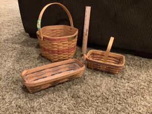3 Longaberger baskets