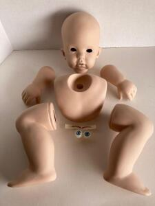 "Tibby porcelain doll parts - D. Rubert 1997, The Doll Inc. Artworks, ""Terrible Two's"""