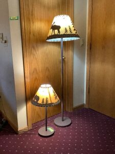 5' floor lamp and matching table lamp