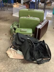 4 pc Samsonite luggage set, briefcase and other misc. bags