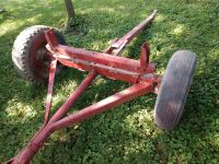 Wagon running gear, unknown brand - probably 15-in tires tires - not good, plan to haul on a trailer - 3