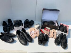 Ballet, tap, jazz shoes - brands include Capezio, Revolution, Neoprene, So Danca in child's sizes 4m, 4.5, ladies 6-7,