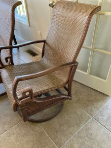 Two swivel/rocking patio chairs - like new