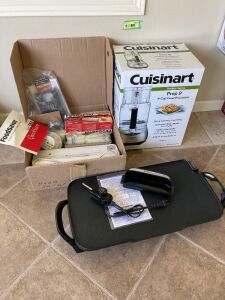 Presto griddle, Cuisinart 9 cup food processor and Foodsaver system