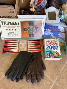 For the guys-men's driving gloves, binoculars, seat belt cover, Tripoley, shoe polish, travel mugs, boot tray and more