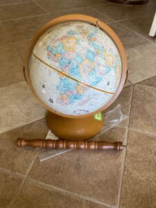 "Globemaster 12"" globe (missing a piece to make a floor stand)"