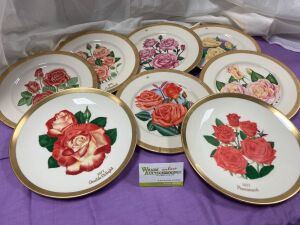23 American Rose Club Plates - Gorham China - Mid 70s through early 1980s