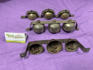 "3 sets of sleigh bells 11.5"", 11.5"" and 12"""