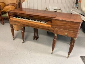 Early 19th century Charles Palmer fortepiano owned by Helen Hay, mother of John Hay private secretary to Lincoln and Secretary of State under Presidents McKinley and T. Roosevelt.  See description for more historical details. Piano legs need repair