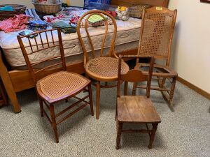 Four chairs that need just a little love