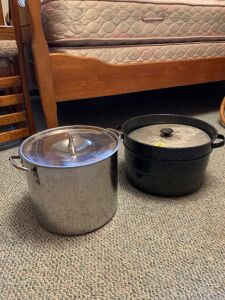 Stainless steel stock pot and granite canner (no lid)