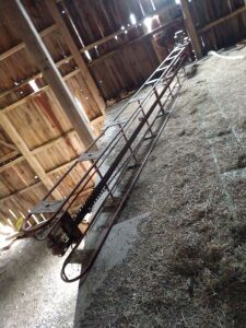 20' long square bale conveyor with half horse electric motor