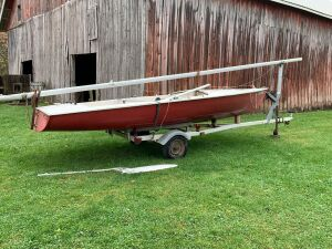 18-ft Chrysler buccaneer sailboat on a dilly trailer-HAS TITLE