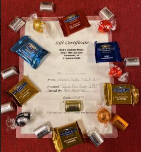 Bud's Custom Meats Certificates & Chocolate Package #1 - Johnson County Pork Producers