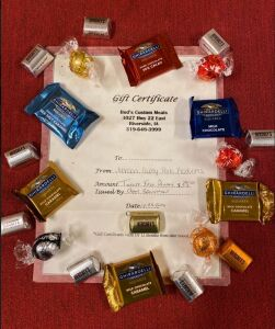 Bud's Custom Meats Certificates & Chocolate Package #2 - Johnson County Pork Producers