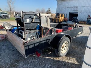2003 single axle trailer with 2016 portable power wash unit setup. Wire Transfer Required!