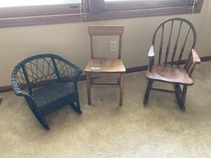 Three children's chairs