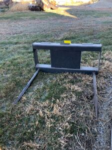 "Dual tine bale spear skid loader mount 42"" tines"