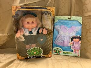 Cabbage Patch Kids Keepsake Collection Limited Edition and a CPK Party Fashion outfit. ** Eyes are discolored from storage**